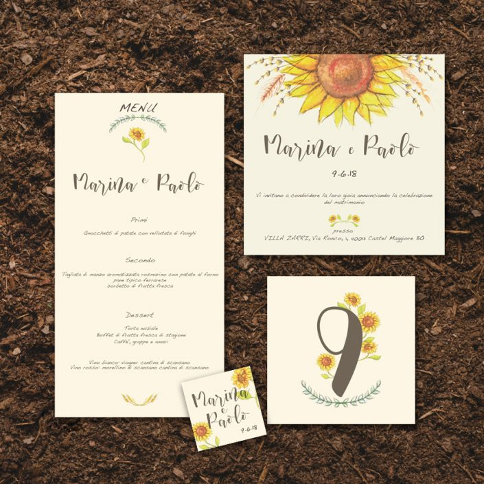 Wedding Stationery Girasoli